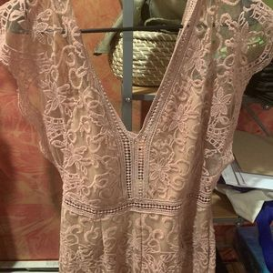 Lace pink Charlotte Russe romper